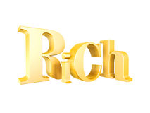 Golden rich symbol. Isolated on white background Royalty Free Stock Images