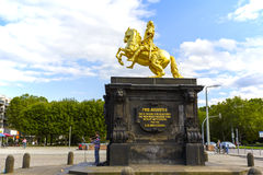 The Golden Rider in Dresden Stock Image