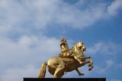 Golden Riders Dresden, Germany stock photo