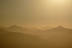 Golden Ridges of the San Gabriel Mountains National Monument Royalty Free Stock Photography