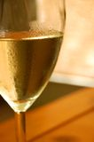 Golden Riesling in a glass Stock Photos