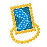 Golden rim brooch Stock Photo