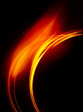 Golden ring. Fragment of a golden ring with a flare on a black background Stock Photos