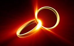 Golden ring backgound Royalty Free Stock Photography