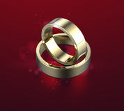 Golden Ring with Diamond. Jewelry background Stock Images