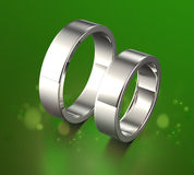 Golden Ring with Diamond. Jewelry background Stock Photo