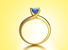 Golden Ring with Diamond. Jewelry background. Valentine day Royalty Free Stock Photo