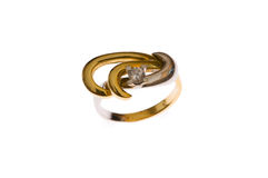Golden ring isolated Stock Image