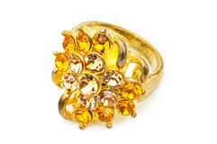 Golden ring isolated stock images