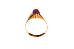 Golden ring isolated Royalty Free Stock Image
