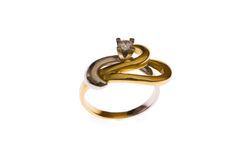 Golden ring isolated Royalty Free Stock Photos