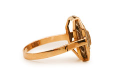 Golden ring isolated Stock Photography