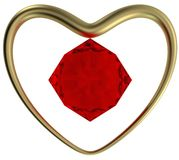 Golden Ring and ruby Stock Photography
