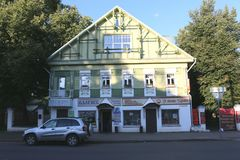 Residential house in Kostroma. Royalty Free Stock Photography