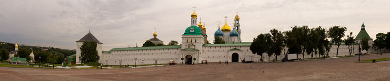 The Golden ring of Russia. Sergiev Passad. View of the Trinity-Sergius Lavra. Stock Photography