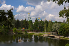 The Golden ring of Russia. Sergiev Passad. View of the Trinity-Sergius Lavra. Royalty Free Stock Photos