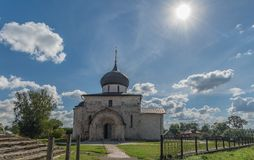 Golden Ring of Russia. In the territory of St. George`s Cathedral in Yuryev-Polsky. Russia, Yuryev-Polsky, St. George`s Cathedral in Yuryev-Polsky, Vladimir royalty free stock images