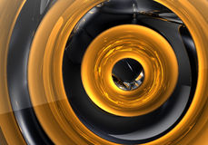 Golden ring in the space (abstract) 02 Royalty Free Stock Photography