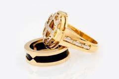 A pair of original gold rings Stock Image