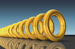 Golden rings Royalty Free Stock Photos