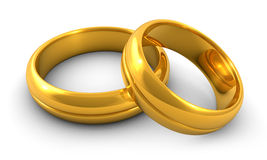 Golden rings Stock Image