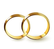 Golden rings Royalty Free Stock Photo