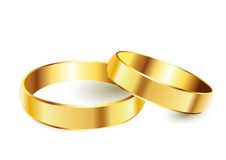 Golden rings. A pair of golden rings Stock Photo