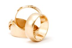 Golden rings Stock Photos
