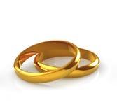 Golden rings. Wedding gold rings on white background Stock Photo