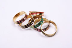 Golden Rings Stock Photography