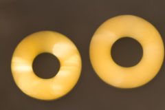 Golden rings bokeh Stock Photos