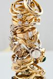 Golden rings collection Stock Images