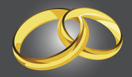 Golden rings illustration Stock Photo