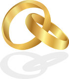 Golden rings Royalty Free Stock Image