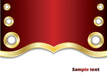 Golden rings on red Royalty Free Stock Photo