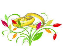 Golden rings wedding Royalty Free Stock Photography