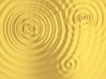 Golden rippled surface Stock Image