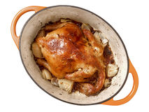 Golden roasted chicken Royalty Free Stock Image