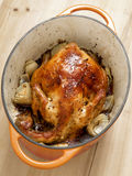 Golden roasted chicken Royalty Free Stock Photo