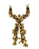Golden robot Royalty Free Stock Photos