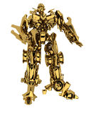 Golden robot Stock Photography