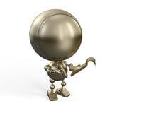 Golden robot makes notes Stock Photos