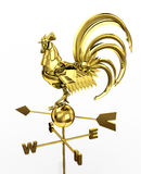 Golden Robot-rooster. Royalty Free Stock Photo