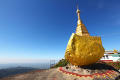 Golden rock a Buddhist pilgrimage site, Myanmar royalty free stock images
