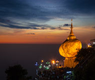 Golden Rock - Kyaiktiyo Pagoda, Myanmar Stock Images