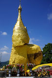 Golden rock. MAWLAMYINE, MYANMAR - CIRCA APRIL 2017 Golden rock in Nwa-la-bo pagoda Stock Photography