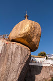 The Golden Rock ,Myanmar-February 21,2014 : Kyaiktiyo Pagoda Stock Photos