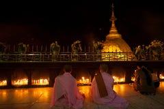 Golden rock, Myanmar Stock Images