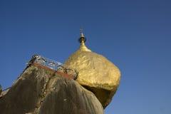 Golden rock pagoda in Kyaiktiyo Myanmar Royalty Free Stock Photography
