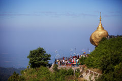 Golden rock pagoda Royalty Free Stock Image
